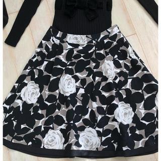 M'S GRACY - エムズグレーシー (7)薔薇柄スカート  38サイズ   美品