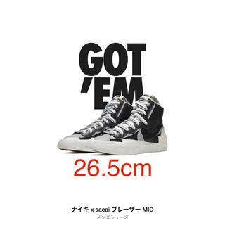 NIKE - 【SNKRS購入】26.5cm ナイキ サカイ ブレーザー MID ブラック