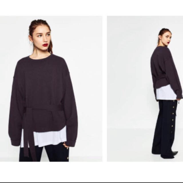 ZARA(ザラ)のウエストリボン ニット レディースのトップス(ニット/セーター)の商品写真