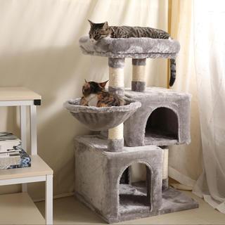 新商品! キャットタワー スリム 突っ張り 可愛い お洒落 高さ87cm(猫)