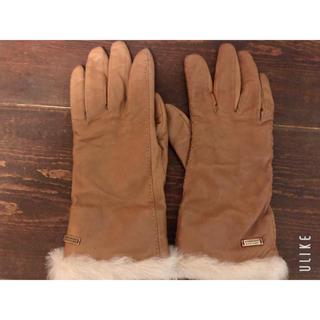 バーバリーブルーレーベル(BURBERRY BLUE LABEL)のBURBERY BLUE LABEL ファー手袋(手袋)