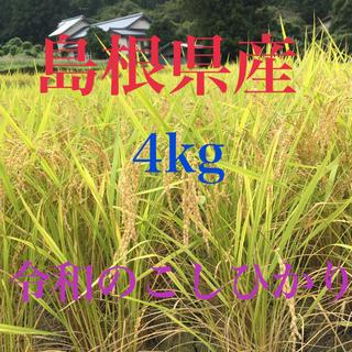 島根県産「令和のこしひかり」4kg 高冷地栽培米(米/穀物)