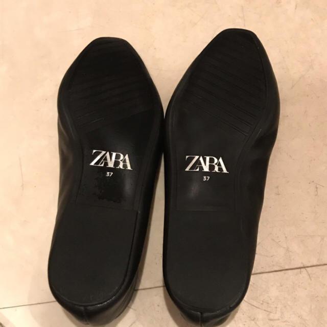 ZARA(ザラ)のZARA ソフトレザーバレエシューズ 37 レディースの靴/シューズ(バレエシューズ)の商品写真
