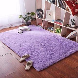 ラグマット カーペット 2畳 滑り止め付 120 * 160 紫(ラグ)