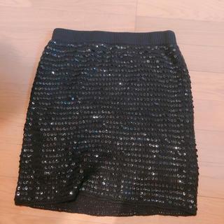 スライ(SLY)のSLYスパンコールスカート(ひざ丈スカート)
