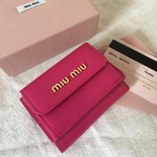 miumiu - miumiu 極ミニ財布♡PEONIAピンク♡マドラス♡一つは欲しい♡