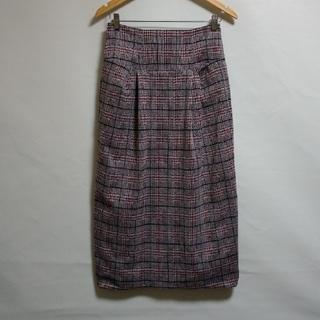 ジーナシス(JEANASIS)のJEANASIS チェックのロングスカート(ロングスカート)