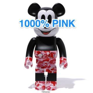 メディコムトイ(MEDICOM TOY)のBE@RBRICK BAPE MICKEY MOUSE 1000% PINK(その他)