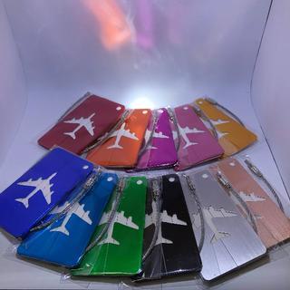 キーホルダー シルバー アルミタグ 旅行 ストラップ スーツケース(旅行用品)