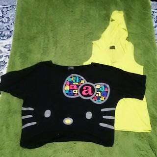 ハローキティ(ハローキティ)のキティ Tシャツ タンクトップセット(Tシャツ(半袖/袖なし))