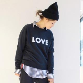 ドゥーズィエムクラス(DEUXIEME CLASSE)の2018ドゥーズィエムクラス完売 KULE LOVE SWEAT ネイビー 美品(トレーナー/スウェット)