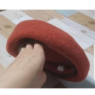SLY - SLY スライ ウール ベレー帽 オレンジ