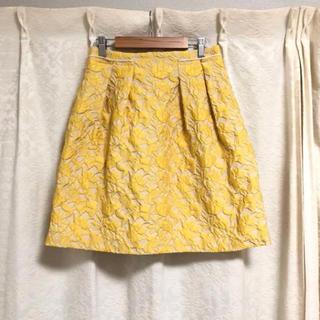 ボールジィ(Ballsey)の美品【BALLSEY】ジャガード 花柄 スカート(ひざ丈スカート)
