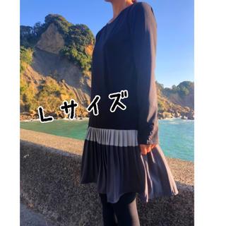 ワンピース プリーツスカート スカート(ひざ丈ワンピース)