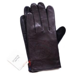 ヴィヴィアンウエストウッド(Vivienne Westwood)の新品 メンズ 羊革 エンボス オーブ BR ヴィヴィアン 手袋(手袋)