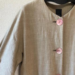 ミナペルホネン(mina perhonen)のミナペルホネン*calm  コート(ノーカラージャケット)