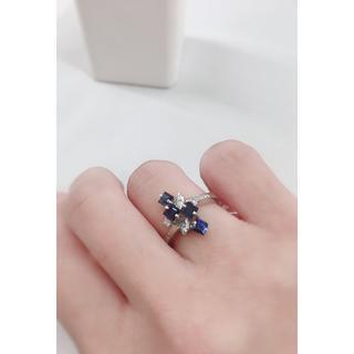 PT900 サファイア ダイヤモンド オーダーメイド リング 最高級 Jewel(リング(指輪))