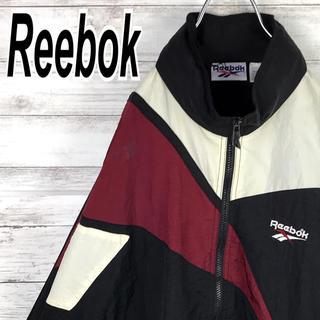 リーボック(Reebok)のリーボック ナイロン ブルゾン ビッグベクター 90s ビンテージ 送料無料(ナイロンジャケット)
