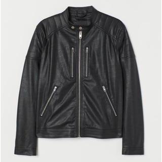 エイチアンドエム(H&M)の【H&M】2019新作&新品 ライダース ジャケット Lサイズ(ライダースジャケット)