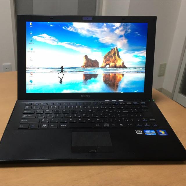 SONY(ソニー)の黒爆速高級品 SONY VAIO Core i7, SSD 232GB ♪ スマホ/家電/カメラのPC/タブレット(ノートPC)の商品写真