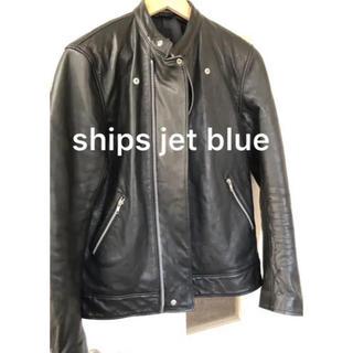 シップス(SHIPS)のライダースジャケット  ships jet blue 羊革 Lサイズ(ライダースジャケット)