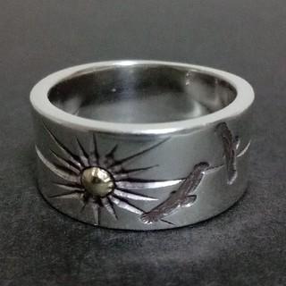 Silver501 K18サン&イーグルリング(リング(指輪))
