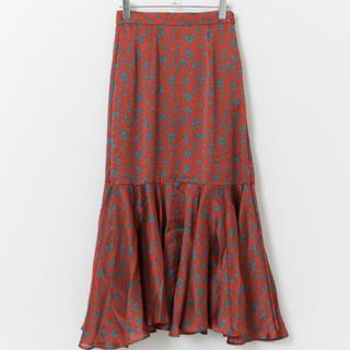KBF - kbf  スカート シアーストライプフラワースカート