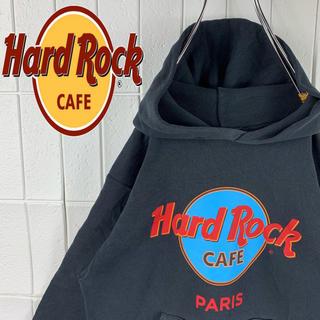 ハードロックカフェ USA製 デカロゴ ゆるだぼ 90s プルオーバー パーカー(パーカー)