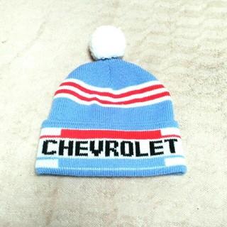シボレー(Chevrolet)の『CHEVROLET』 ポンポンニット帽(ニット帽/ビーニー)