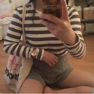 ムジルシリョウヒン(MUJI (無印良品))の無印ボーダーロンT♡(Tシャツ(長袖/七分))