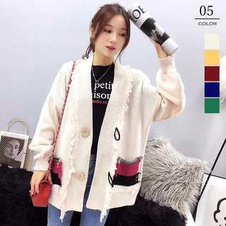 カーディガン レディース 韓国ファッション BIGシルエット カーデ ボタン(カーディガン)