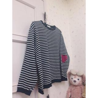 ミックスエックスミックス(mixxmix)の袖❤付きニット、スナイデル、りりーブラウン、リルリリー、イング、エモダ、ミーア(ニット/セーター)