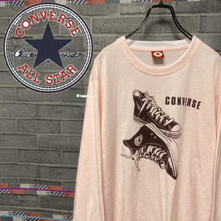 コンバース(CONVERSE)の【レア】コンバース☆長袖シャツ デカプリント メンズ レディース(Tシャツ/カットソー(七分/長袖))