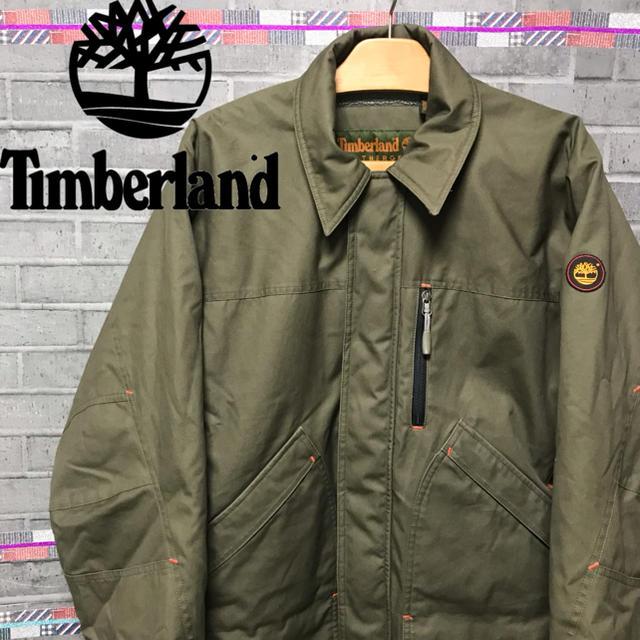 Timberland(ティンバーランド)の【超レア】ティンバーランド☆ミリタリージャケット ワンポイントロゴ 美品 メンズのジャケット/アウター(ミリタリージャケット)の商品写真