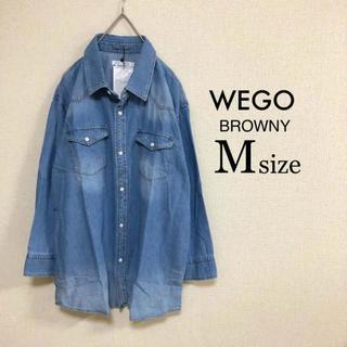 ウィゴー(WEGO)のMサイズ WEGO BROWNY⭐️新品⭐️七分袖デニムシャツ(シャツ)