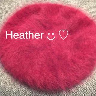 heather - 最終価格◆Heather アンゴラベレー帽 ボルドー