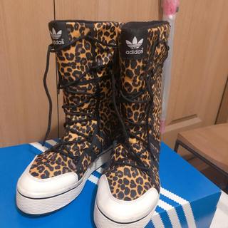 adidas - アディダス ウィンターブーツ 23.5cm ヒョウ柄 レオパード