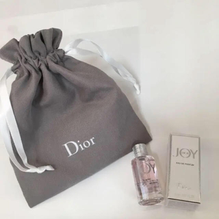 クリスチャンディオール(Christian Dior)のディオール 香水 サンプル ミニ JOY 巾着付き 5ml(香水(女性用))