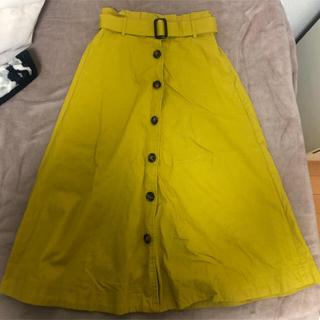 イエロー  黄色 ロング スカート 新品(ロングスカート)