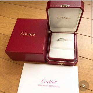 カルティエ(Cartier)の正規品 カルティエ  プラチナ 指輪 17号 57(リング(指輪))