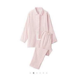 MUJI (無印良品) - 脇に縫い目のない 四重ガーゼ パジャマ・婦人 L