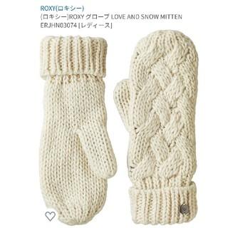 ロキシー(Roxy)の新品 Roxy ロキシー レディース ニットミトン手袋 グローブ(手袋)