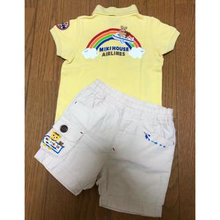 mikihouse - ミキハウス 飛行機ポロシャツ 、ハーフパンツ (80)