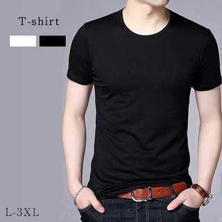 ★2カラー シンプルメンズUネックシャツ★(Tシャツ/カットソー(半袖/袖なし))