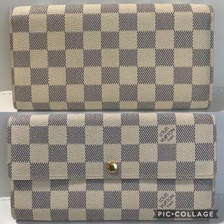 LOUIS VUITTON - ルイヴィトン ダミエ ホワイト 白 長財布 財布