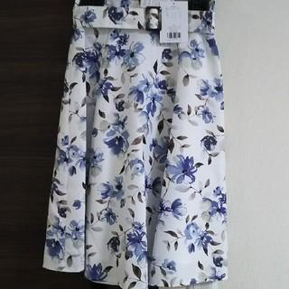 アプワイザーリッシェ(Apuweiser-riche)の今期 フラワースカート(ひざ丈スカート)