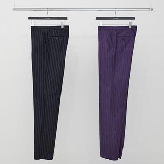 ジョンローレンスサリバン(JOHN LAWRENCE SULLIVAN)のLITTLEBIG Chalk Stripe Straight Trousers(スラックス)