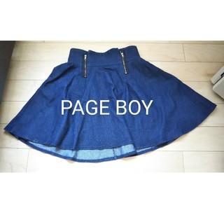 ページボーイ(PAGEBOY)のデニム地ミニスカート(ミニスカート)