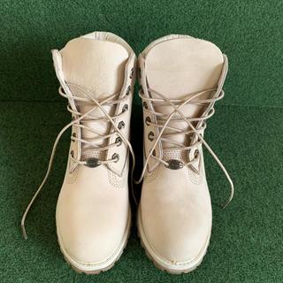 ティンバーランド(Timberland)の【ティンバーランド】ブーツ クリーム アンチファティーグインソール 23cm(ブーツ)