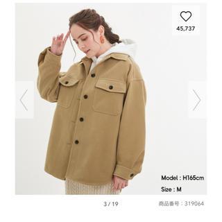 GU - 完売!VERY掲載GUオーバーシャツジャケット、ベージュSサイズ